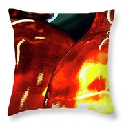 Still Life With Glass Vases. Throw Pillow