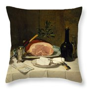 Still Life With Ham Throw Pillow
