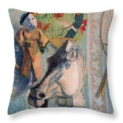 Still Life With Horse Head Throw Pillow