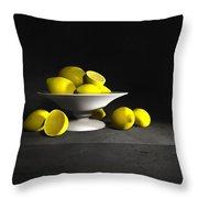 Still Life With Lemons Throw Pillow