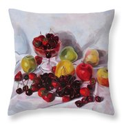 Still Life With Merry  Throw Pillow