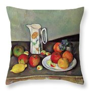 Still Life With Milkjug And Fruit Throw Pillow