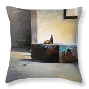 Still Life With Mirror Throw Pillow