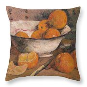 Still Life With Oranges Throw Pillow