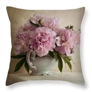 Still Life With Pink Peonies Throw Pillow