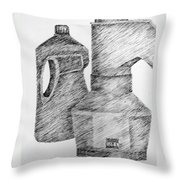 Still Life With Popcorn Maker And Laundry Soap Bottle Throw Pillow