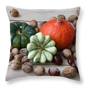 Still Life With Products Of Autumn Throw Pillow