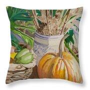 Still Life With Pumpkin Throw Pillow