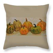 Still Life With Pumpkins Throw Pillow