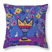 Still Life With Rabbit Throw Pillow