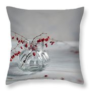 Still Life With Red Berries Throw Pillow