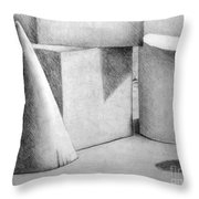 Still Life With Shapes Throw Pillow