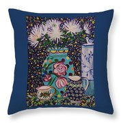 Still Life With Spider Moms Throw Pillow