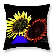 Still Life With Summer Flowers #1. Throw Pillow