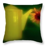 Still Life With Sunflower And Coffee Pot. Throw Pillow
