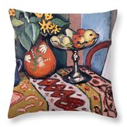 Still Life With Sunflowers II Throw Pillow