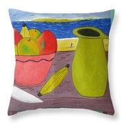 Still Life With Sunsed Throw Pillow