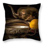 Still Life With Tea Cup Throw Pillow