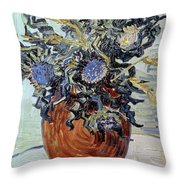 Still Life With Thistles Throw Pillow by Vincent van Gogh