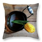 Still Life With Tulip Throw Pillow