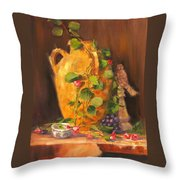 Still Life With Urn Throw Pillow