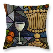 Still Life With Vase Throw Pillow