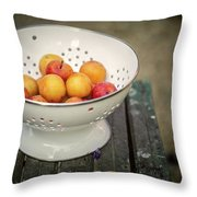 Still Life With Yellow Plums  Throw Pillow