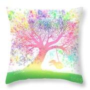 Still More Rainbow Tree Dreams 2 Throw Pillow