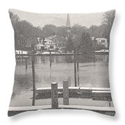 New England Peace Throw Pillow