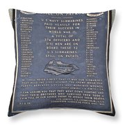 Still On Patrol Throw Pillow