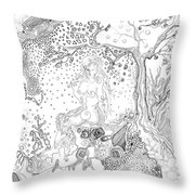 Still Point In A Sea Change Throw Pillow