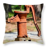 Still Pumping Throw Pillow