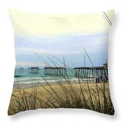 Still Standing Frisco Pier 3 4/25 Throw Pillow