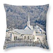 Still The Little White Church In Peoria Throw Pillow