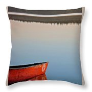 Still Water In Maine Throw Pillow