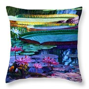 Stillness Of Color And Light Throw Pillow