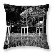 Stilt Dock Throw Pillow