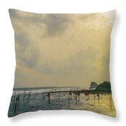 Stilt Fisherman Throw Pillow