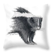 Stiped Skunk Throw Pillow
