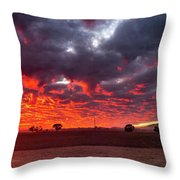 Stirling Ranges Sunrise Throw Pillow