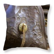 Stirrup And Boot Throw Pillow