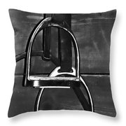Stirrup Irons Throw Pillow