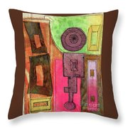 Stitched Towers  Throw Pillow