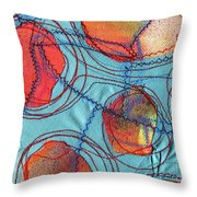 Stitched Waterways 4  Throw Pillow