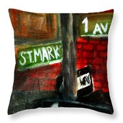 St.marks Place Throw Pillow