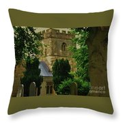St. Nicholas Church, Yorkshire England Throw Pillow