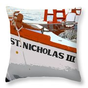 St.nicholas Three Throw Pillow