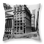 Stock Exchange, C1908 Throw Pillow