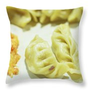 Stock Image For Momo Vegetable Dish India Throw Pillow