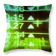 Stock Market Numbers Throw Pillow
